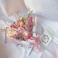 肥皂香皂花礼盒情人节七夕仿真玫瑰超迷你花束11朵满天星生日礼物A