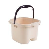 足浴盆脚底按摩滚轮泡脚桶 家用塑料洗脚盆大号足浴桶