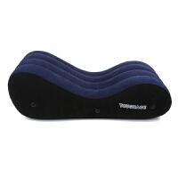 SM床用品充气沙发情趣家具骑士性爱垫马震情趣用品床 深蓝色