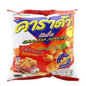 泰国进口 卡啦哒 Carada 加油啦香辣鸡味米球(膨化食品)17g
