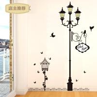 卧室客厅走廊背景墙装饰可移除墙贴纸贴画街角壁灯下贴饰灯的故事SN7949 灯的故事 特大