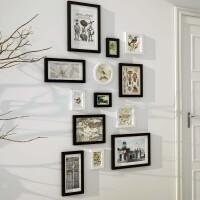 沙发背景墙相框组合卧室创意照片墙墙上画框挂墙简约相片墙家装软饰家居日用 竖款:黑白色