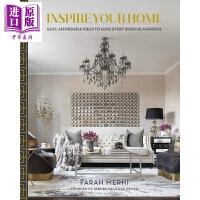 【中商原版】Inspire Your Home 英文原版 ���l你的家居�`感:�房�g�得迷人的��惠��意
