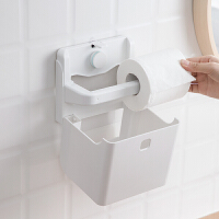 强力吸盘式创意纸巾收纳架免打孔卷纸置物架卫生间厕所储物盒 强力无痕吸盘纸巾收纳架