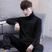 2018秋冬季高领男士加厚保暖青年针织衫秋冬打底衫套头毛衣男青年 G120 黑色