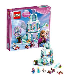 LEGO 乐高 Disney Princess 迪士尼公主系列 艾莎的冰雪城堡 积木拼插儿童益智玩具 41062