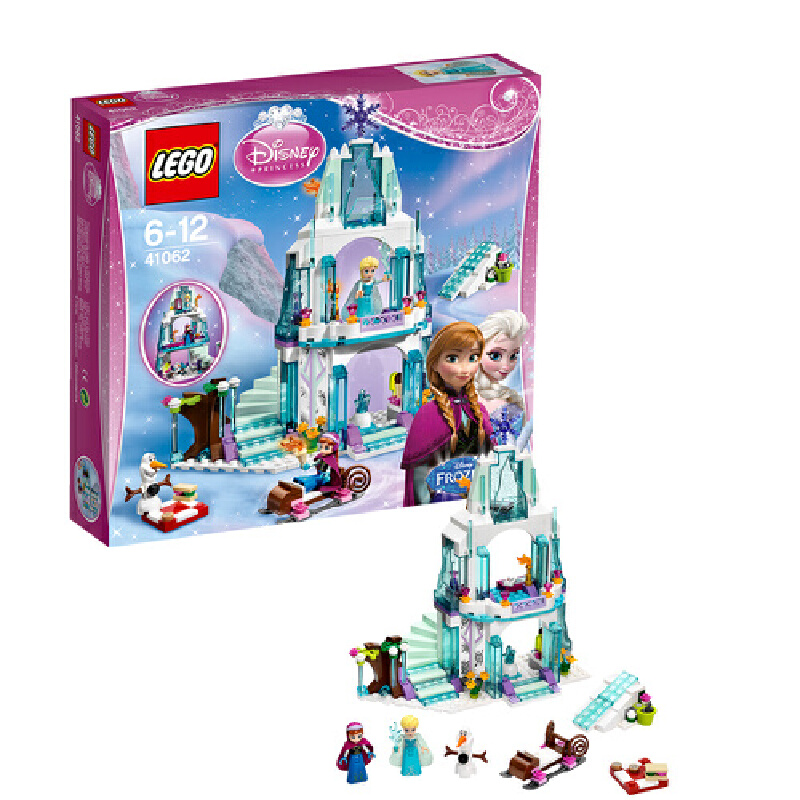 LEGO 乐高 Disney Princess 迪士尼公主系列 艾莎的冰雪城堡 积木拼插儿童益智玩具 41062【当当自营】适合6-12岁,292pcs小颗粒积木