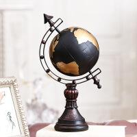 地球仪摆件家居摆设客厅电视柜玄关欧式酒柜装饰品美式电视柜摆钟