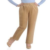 秋装中老年条绒女裤松紧高腰大码休闲裤奶奶灯芯绒弹力裤