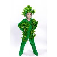 大树表演服儿童小树演出服松树柏树圣诞树舞蹈服男女大树服装 绿色长款 小树 130cm