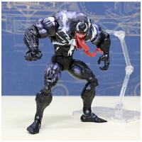 漫威正版蜘蛛侠毒液致命守护者模型可动人偶玩具电影公仔礼物 送支架