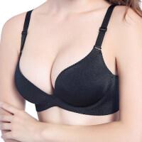 一片式无痕无钢圈文胸性感聚拢小胸罩舒适少女厚薄款上托内衣套装