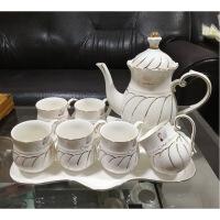简约水具套装家用陶瓷杯具北欧冷水壶水杯欧式配托盘客厅茶杯杯子