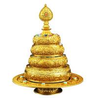 纯铜曼扎盘藏传佛教用品雕花曼茶罗三十七供七宝曼扎盘送宝石