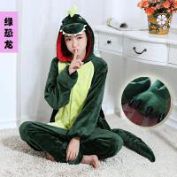 男女套装可爱冬季连体动物睡衣卡通学生情侣薄款韩版日系 XL 身高180-188不送