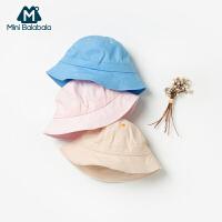 【2件4折】迷你巴拉巴拉男女宝宝帽子2020春新品儿童渔夫帽盆帽防晒帽