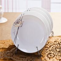 [当当自营]SKYTOP斯凯绨 陶瓷高档骨瓷餐具 永恒玫瑰8英寸饭盘(4个装)