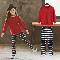 大女童2018新款套装女孩洋气运动服童装儿童春秋装两件套