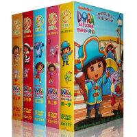 爱探险的朵拉dvd全集高清正版爱冒险的朵拉儿童中英双语学习光盘