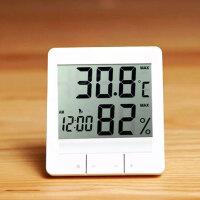 电子温湿度计家用室内高精度温湿计台式多功能温度计湿度计
