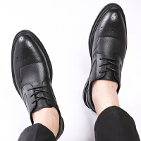 【下单立享6折 到手价:123元】承发 商务休闲男士皮鞋子舒适耐磨防滑系带皮鞋男 35926