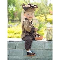 小和尚衣服儿童国学汉服男女小孩宝宝药童锄禾幼童古装演出服装