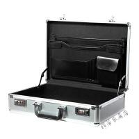 密码手提箱铝合金工具箱证件收纳箱文件公文保险收藏箱带锁手提箱