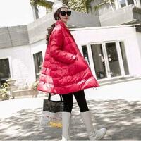2019韩版羽绒服女中长款宽松显瘦面包服个性口袋立领时尚外套