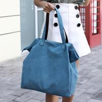 包包女包帆布包女单肩手提纯色简约帆布袋大容量帆布兜时尚休闲文艺清新女士布包电脑包