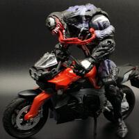 超凡蜘蛛侠2多头黑毒液特工 关节可动人偶 DST生日礼物玩具手版 +摩托车 全关节可动人偶