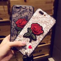 iPhone8手机壳6S全包防摔创意苹果7plus保护套子5S潮女款个性挂绳