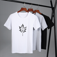 冰瓷棉男士短袖t恤宽松衣服夏季潮流纯棉白半袖�B大码体恤男装T176