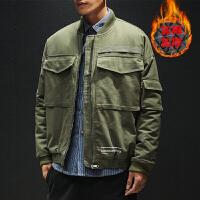 冬季新款潮牌工装棉衣男士韩版短款加厚棉服潮流帅气棉袄外套