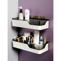 卫生间置物架浴室壁挂式免打孔厕所洗手间洗漱台用品用具收纳架子 单层 收藏加购送 图片色