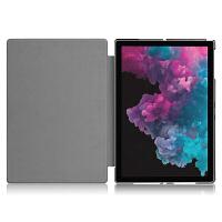 微软Surface Pro6保护套壳12.3英寸Pro5电脑壳1796二合一平板皮套轻薄商务可插键盘 黑色【Surfa