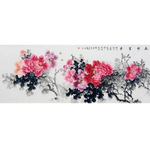 中国美协会员,中国书协会员,龙云书画院院长侯桂峰(牡丹二)31