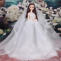 女孩公主女童儿童玩具新娘洋娃娃套装大礼盒大裙摆婚纱衣服