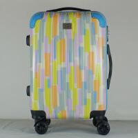 收纳箱东莞图案迷彩拉杆箱万向轮密码锁旅行箱儿童行李箱 浅