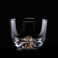 玻璃个人杯功夫杯子描金大号品茗杯茶碗普洱茶红茶杯