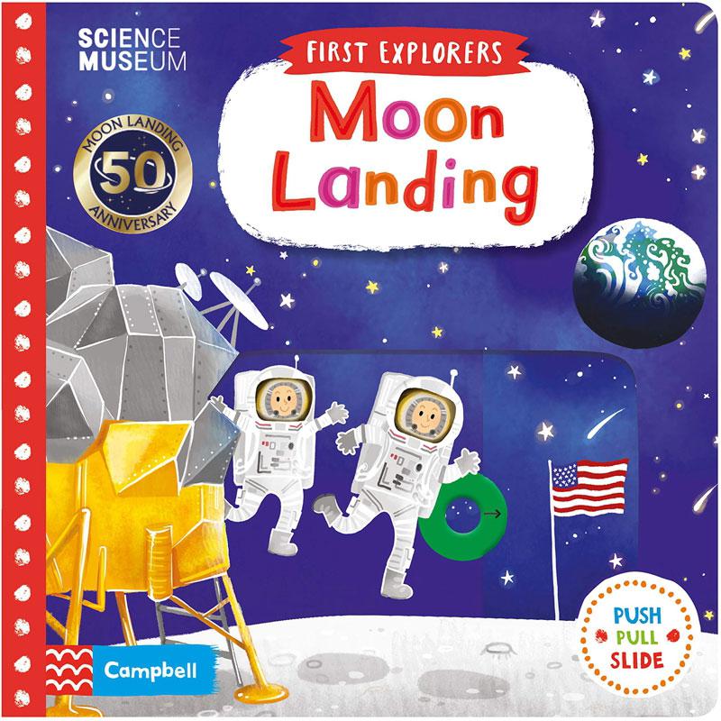 【中商原版】First Explorers:Moon Landing 英文原版 小小探索家:登月 全彩精装 纸板书