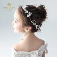 儿童头饰头花花环发带耳坠套装韩式公主百搭发夹生日饰品女孩