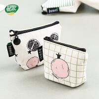 傲家 韩版零钱包零钱袋女生创意拉链小清新钥匙包卡通可爱硬币包卡包