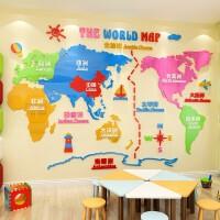 �和�房卡通���N�� 世界地�D���N3d立�w��克力客�d�P室教室自然地理博物�^�D���^背景�ρb�布置 THE WORLD MAP��