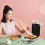 九阳(Joyoung)魔法包三明治早餐机轻食机华夫饼机电饼铛家用多功能加热吐司压烤机莫兰迪粉-双盘S-T1