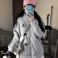 连帽拉链开衫卫衣2019秋季韩版宽松学生情侣装上衣外套男女潮