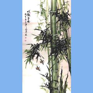 湖南人,擅长画花鸟尤其擅长画竹子,中国书画院理事吕山泉(竹报平安)3