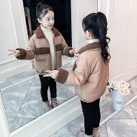 儿童棉衣2018新款韩版冬季女孩短款加厚棉袄