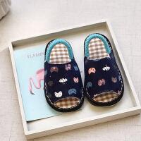 手工春秋女童夏儿童室内防滑1-3岁4冬男宝宝婴幼儿家居婴儿棉拖鞋