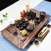 功夫茶具套装家用简约现代小茶台实木茶盘整套